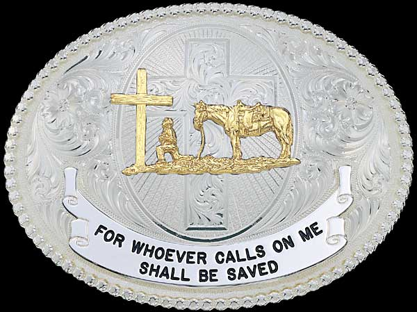 Christian Belt Buckle Customizable By Montana Silversmiths