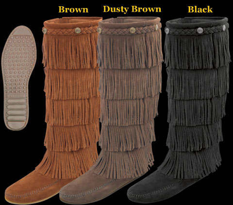 5 Fringe Boot by Minnetonka Moccasin